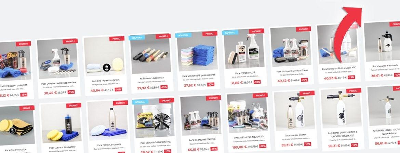 Pack kit et promotion produits detailing pas cher