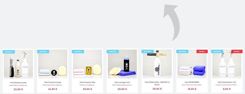 Pack kit et promotion produits detailing